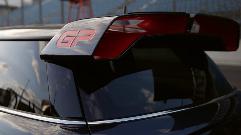 MINI John Cooper Works GP – roof spoiler - grey and red